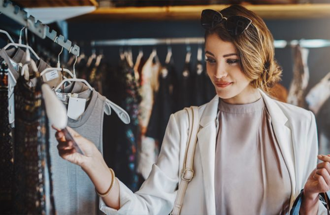 Shopping. From boutiques to high-end fashion. Image